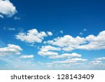 Stock photo sky with clouds 128143409
