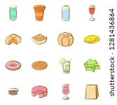 variousfood  images set.... | Shutterstock .eps vector #1281436864