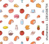 various food images set.... | Shutterstock .eps vector #1281438754