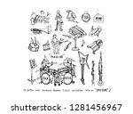 concert poster   sketchy music... | Shutterstock .eps vector #1281456967