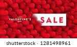 valentine's day sale offer ... | Shutterstock .eps vector #1281498961