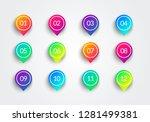 vector arrow bullet point... | Shutterstock .eps vector #1281499381