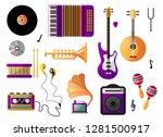 set of musical instruments for...   Shutterstock .eps vector #1281500917