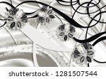 3d wallpaper   jewelry flowers  ...   Shutterstock . vector #1281507544