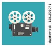 old video camera vector... | Shutterstock .eps vector #1281509071