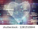 3d illustration of heart shape  ... | Shutterstock . vector #1281510844