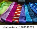 backround of colorful fancy ties | Shutterstock . vector #1281512071