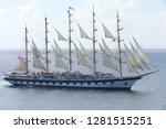 Clipper Ship At Full Sails At...