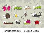 insect cartoon set | Shutterstock .eps vector #128152259