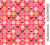 beautiful pink seamless pattern ...   Shutterstock .eps vector #1281534901