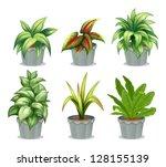 illustration of green leafy... | Shutterstock .eps vector #128155139