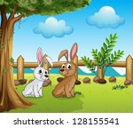 Illustration Of Two Bunnies...