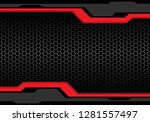 abstract dark grey red line... | Shutterstock .eps vector #1281557497