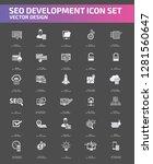 search engine optimisation... | Shutterstock .eps vector #1281560647
