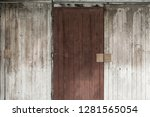 old wood texture or background. | Shutterstock . vector #1281565054