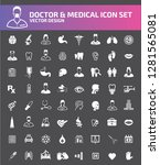 doctor and medical vector icon... | Shutterstock .eps vector #1281565081