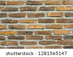 brick wall in high resolution  | Shutterstock . vector #1281565147