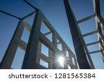 white architecture bridge with... | Shutterstock . vector #1281565384