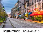 savannah  georgia  usa bars and ... | Shutterstock . vector #1281600514