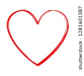 heart vector isolated on white... | Shutterstock .eps vector #1281601387