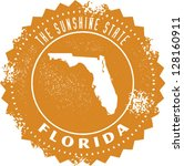 Florida USA State Stamp