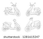 black outline vector motorike... | Shutterstock .eps vector #1281615247