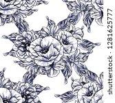 flower print. elegance seamless ... | Shutterstock . vector #1281625777