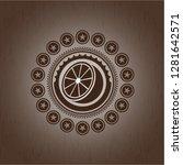 orange icon inside retro style...   Shutterstock .eps vector #1281642571