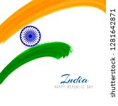 beautiful indian flag theme...   Shutterstock .eps vector #1281642871