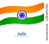 abstract indian flag theme...   Shutterstock .eps vector #1281642961
