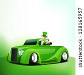 irish men holding green beer...   Shutterstock .eps vector #128165957