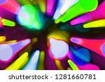 nice colorful moving festoon... | Shutterstock . vector #1281660781