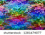 sequins macro background... | Shutterstock . vector #1281674077