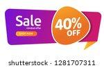 40 percent discount  sales... | Shutterstock .eps vector #1281707311