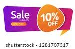 10 percent discount  sales... | Shutterstock .eps vector #1281707317