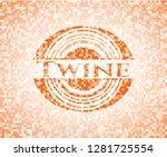 twine orange mosaic emblem   Shutterstock .eps vector #1281725554