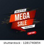 abstract mega sale banner with... | Shutterstock .eps vector #1281740854