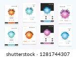 abstract vector business... | Shutterstock .eps vector #1281744307