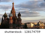 St. Basil's Cathedral On Sunse...