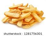 Big Steak Chips On White...