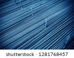 steel rebar for reinforcement... | Shutterstock . vector #1281768457