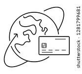 cross border payments. vector... | Shutterstock .eps vector #1281799681
