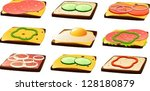 vector illustration of slices... | Shutterstock .eps vector #128180879