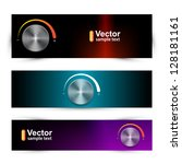 vector sound banners