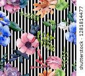 bouquet floral botanical...   Shutterstock . vector #1281814477