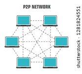 vector tech icon internet... | Shutterstock .eps vector #1281824551