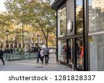 barcelona  spain. december 2018 ... | Shutterstock . vector #1281828337