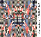 quirky tapestry pattern.... | Shutterstock .eps vector #1281829447