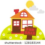 house for sale  theme for... | Shutterstock .eps vector #128183144