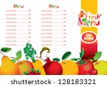 menus for juice and fresh... | Shutterstock .eps vector #128183321